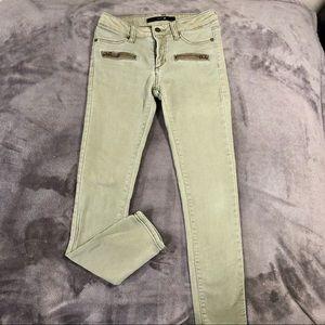 Girls Joe's olive green jegging w/zippers